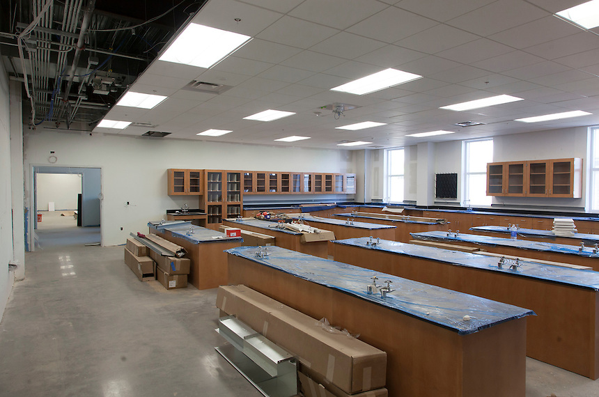 The science hall under construction January 9, 2015. Photo by David Duncan