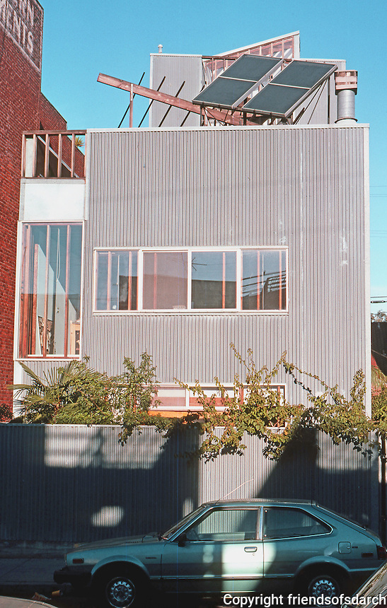 Frank Gehry: Spiller House, 39 Horizon Ave., Venice, CA. Elevation. Photo '86.