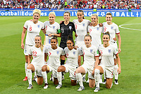 20190702 - LYON , FRANCE : English players with Carly Telford (13) , Lucy Bronze (2) , Keira Walsh (4) , Steph Houghton (5) , Millie Bright (6) , Nikita Parris (7) , Jill Scott (8) , Demi Stokes (12)  , Rachel Daly (17) , Ellen White (18) and Beth Mead (22) pictured during the female soccer game between England  - the Lionesses - and The United States of America  – USA - , a knock out game in the semi finals of the FIFA Women's  World Championship in France 2019, Tuesday 2 nd July 2019 at the Stade de Lyon  Stadium in Lyon  , France .  PHOTO SPORTPIX.BE | DAVID CATRY