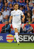 Pictured: Fernando Llorente of Swansea City Saturday 27 August 2016<br /> Re: Swansea City FC v Leicester City FC Premier League game at the King Power Stadium, Leicester, England, UK