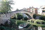 Estella-Lizarra.Navarra.Espana..Estella-Lizarra.Navarra.Spain..Puente de la Carcel..Bridge of the Prision..(ALTERPHOTOS/Alfaqui/Acero)