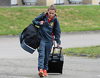 20170725 - TILBURG , NETHERLANDS :  Belgian Davina Philtjens pictured going back to Belgium as the Belgian national women's soccer team Red Flames was not able to qualify for the quarter finals after a loss against The Netherlands , on Tuesday 25 July 2017 in Tilburg . The Red Flames finished on 3 th place in Group A at the Women's European Championship 2017 in the Netherlands. PHOTO SPORTPIX.BE | DAVID CATRY