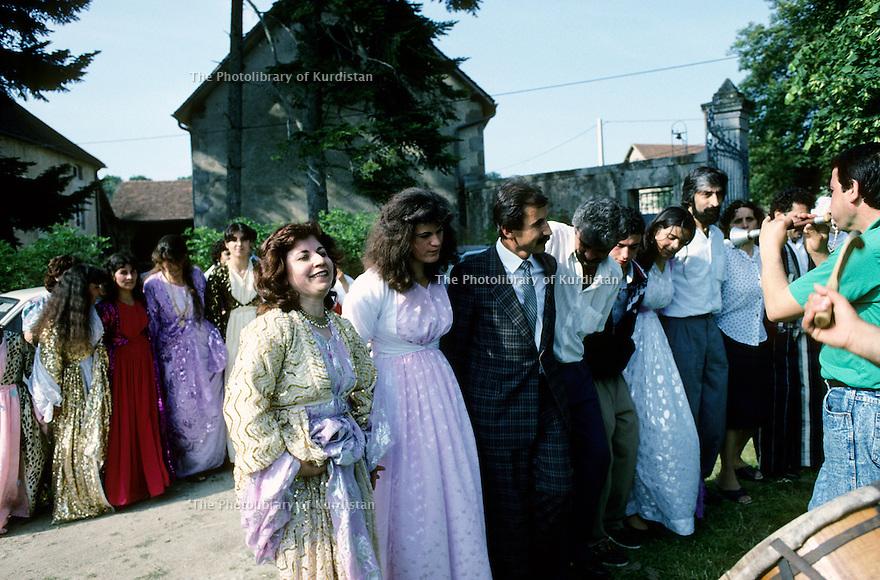 France 1990.Kurdish wedding in Mainsat.France 1990.Mariage kurde a Mainsat