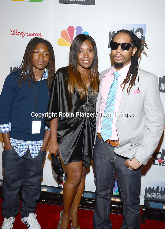 """Lil Jon, wife Nicole Smith and Young DJ Slade attend the """"All-Star Celebrity Apprentice Finale Party """".on May 19, 2013 at Cipriani 42nd Street in New York City."""