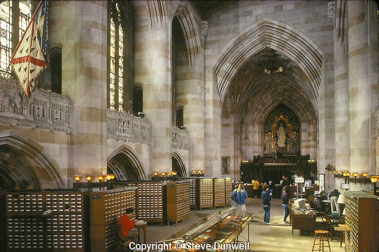 Sterling library interior, Yale University, New Haven, CT
