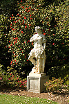 Statue in gardens at Huntington Gardens in Pasadena, CA