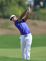 Thorbjorn Olesen (DEN) on the 1st fairway during the preview for the DP World Tour Championship at the Earth course,  Jumeirah Golf Estates in Dubai, UAE,  18/11/2015.<br /> Picture: Golffile | Thos Caffrey<br /> <br /> All photo usage must carry mandatory copyright credit (&copy; Golffile | Thos Caffrey)