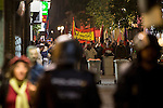 Manifestation against the Investiture of Mariano Rajoy, president of the Partido Popular, in the Congress of Deputies at  Madrid, Spain. October 26, 2016. (ALTERPHOTOS/Rodrigo Jimenez)