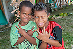 Two local boys in Funafuti, Tuvalu.