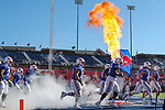 SMU in action during the game between the East Caroline Pirates  and the SMU Mustangs at the Gerald J. Ford Stadium in Fort Worth, Texas.