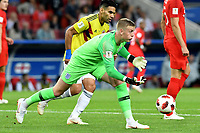 MOSCU - RUSIA, 03-07-2018: Jordan PICKFORD arquero de Inglaterra en acción durante partido de octavos de final entre Colombia y Inglaterra por la Copa Mundial de la FIFA Rusia 2018 jugado en el estadio del Spartak en Moscú, Rusia. / Jordan PICKFORD, goalkeeper of England, in action during the match between Colombia and England of the round of 16 for the FIFA World Cup Russia 2018 played at Spartak stadium in Moscow, Russia. Photo: VizzorImage / Julian Medina / Cont