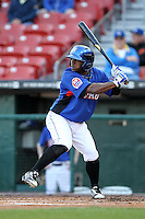 Buffalo Bisons outfielder Corey Wimberly #12 during a game against the Gwinnett Braves at Coca-Cola Field on May 17, 2012 in Buffalo, New York.  Buffalo defeated Gwinnett 4-2.  (Mike Janes/Four Seam Images)