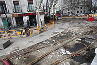 2018 03 13 Old trolley car rails of madrid
