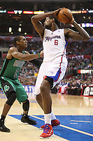 12/27/12 Los Angeles, CA: Los Angeles Clippers center DeAndre Jordan #6 during an NBA game between the Los Angeles Clippers and the Boston Celtics played at Staples Center. The Clippers defeated the Celtics 106-77 for their 15th straight win.