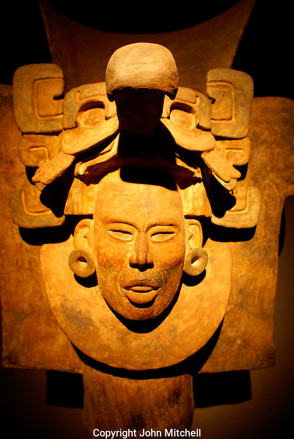 Urn from Tomb 77 at Monte Alban, Oaxaca, Mexico. Museo Nacional de Antropologia, Chapultepec Park, Mexico City.