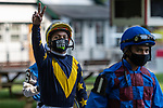 July 24,2020: Ricardo Santana, Jr. on Quick Call day at Saratoga Race Course in Saratoga Springs, New York. Rob Simmons/Eclipse Sportswire/CSM
