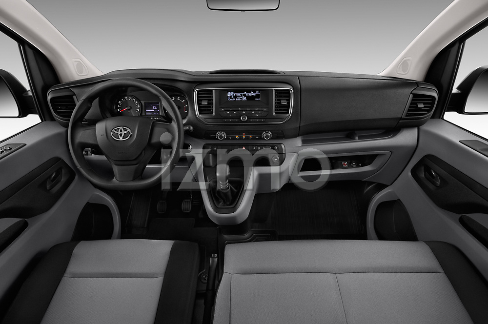 Stock photo of straight dashboard view of 2017 Toyota Proace-Verso Medium 5 Door Passenger Van Dashboard