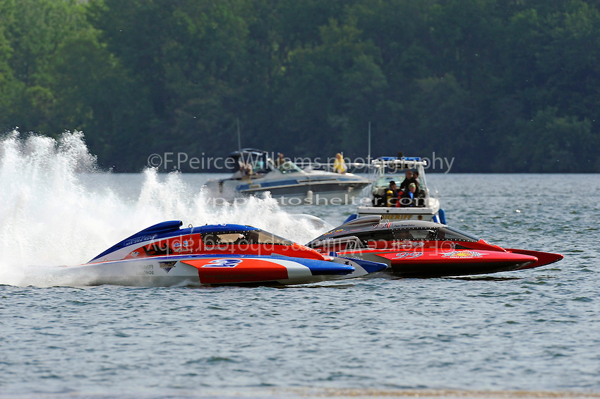 Richard Haineault, CE-2 & Norman Emsbury, CE-99, 5 Litre class hydroplanes.Syracuse Hydrofest, Onondaga Lake, Syracuse, NY.20/21 June, 2009, Dayton, OH USA..©F. Peirce Williams 2009 USA.F.Peirce Williams.photography.ref: RAW (.NEF) File Available