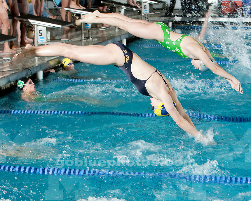 1/29/2010 Women's swimming and diving vs. Michigan State.