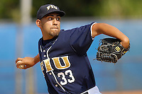 27 April 2008: Florida International pitcher Jorge Marban (33) throws in relief in the FIU 17-10 victory over Louisiana at Monroe at University Park Stadium in Miami, Florida.