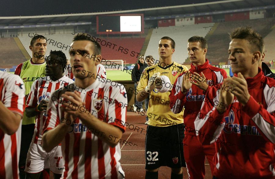 Fudbal Super liga season 2012-2013.Crvena Zvezda Vs. BSK (Borca).Goalkeeper Aleksandar Kirovski center.Beograd, 20.10.2012..foto: Srdjan Stevanovic/Starsportphoto ©