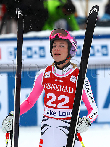 30.11.2012. Lake Louise, Canada.  Ski Alpine FIS World Cup Downhill for women Picture shows Maria  Riesch ger