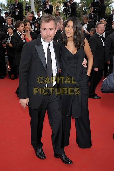 Tim Roth, Leila Bekhti.'De Rouille et d'Os' screening at the 65th  Cannes Film Festival, France..17th May 2012.full length black suit dress knotted jumpsuit .CAP/PL.©Phil Loftus/Capital Pictures.