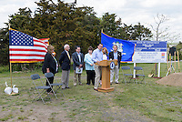Ground Breaking Ceremony for the New Meigs Point Nature Center at Hammonasset Beach State Park  <br />