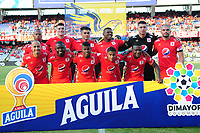 CALI - COLOMBIA, 14-07-2019: Jugadores del América posan para una foto previo al partido por la fecha 1 de la Liga Águila II 2019 entre América de Cali y Alianza Petrolera jugado en el estadio Pascual Guerrero de la ciudad de Cali. / Players of America pose to a photo prior match for the date 1 as part of Aguila League II 2019 between America de Cali and Alianza Petrolera played at Pascual Guerrero stadium in Cali. Photo: VizzorImage / Nelson Rios / Cont
