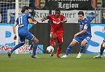 Florian Grillitsch (TSG 1899 Hoffenheim), Jhon Cordoba (1.FC Köln) und Benjamin Hübner (TSG 1899 Hoffenheim)<br /> <br /> Foto: POOLFOTO/Avanti/Ralf Poller/PIX-Sportfotos.<br /> TSG 1899 Hoffenheim-1. FC Koeln.<br /> Sinsheim,  GER, 27.05.2020 , 28. Spieltag , Fussball 1. Bundesliga 2019/2020.<br /> <br /> Sport: Fussball: LIGA: Saison 19/20: TSG 1899 Hoffenheim- 1.FC Koeln, 27.05.2020.<br /> Foto: RALF POLLER/AVANTI/POOL<br /> <br /> Nur für journalistische Zwecke! Only for editorial use! <br /> Gemäß den Vorgaben der DFL Deutsche Fußball Liga ist es untersagt, in dem Stadion und/oder vom Spiel angefertigte Fotoaufnahmen in Form von Sequenzbildern und/oder videoähnlichen Fotostrecken zu verwerten bzw. verwerten zu lassen. DFL regulations prohibit any use of photographs as image sequences and/or quasi-video.