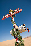 "Mailbox at the ""North Pole"" at the edge of the Dumont Dunes, Calif.."