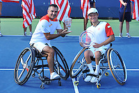 Stephane Houdet (Fra) vs Kunieda (Jap) <br /> Flushing Meadows 08/09/2013<br /> Tennis US Open Finale <br /> Foto Panoramic / Insidefoto<br /> ITALY ONLY