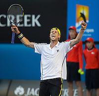 ANDREAS SEPPI (ITA)<br /> <br /> Tennis - Australian Open - Grand Slam -  Melbourne Park -  2014 -  Melbourne - Australia  - 14th January 2013. <br /> <br /> &copy; AMN IMAGES, 1A.12B Victoria Road, Bellevue Hill, NSW 2023, Australia<br /> Tel - +61 433 754 488<br /> <br /> mike@tennisphotonet.com<br /> www.amnimages.com<br /> <br /> International Tennis Photo Agency - AMN Images
