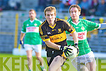 Andrew Kennelly Crokes Mike O'Sullivan Legion.....Dr. Crokes v Legion in the third round of the county football Championship at Fitzgerald Stadium.