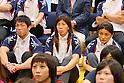 (L to R) Tatsuhiro Yonemitsu, Saori Yoshida,Kaori Icho, SEPTEMBER 9, 2013 - Wrestling : Japanese Wrestling team watched presentation for an additional game determination of the Summer Olympic Games 2020  at Ajinomoto Traning center, Tokyo, Japan. (Photo by Yusuke Nakanishi/AFLO SPORT)