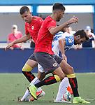 CD Leganes' player Juan Munoz (R) and Rayo Vallecano's players during friendly match. July 13,2019. (ALTERPHOTOS/Johana Hernandez)