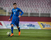 27th March 2018, Karadjorde Stadium, Novi Sad, Serbia; Under 21 International Football Friendly, Serbia U21 versus Italy U21; Midfielder Nicolo Barella of Italy in action