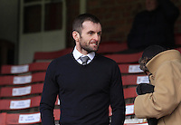 Luton Town manager Nathan Jones before the Sky Bet League 2 match between York City and Luton Town at Bootham Crescent, York, England on 27 February 2016. Photo by Liam Smith.