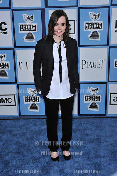 Ellen Page at Film Independent's 23rd Annual Spirit Awards on the beach in Santa Monica, CA..February 23, 2008 Santa Monica, CA.Picture: Paul Smith / Featureflash