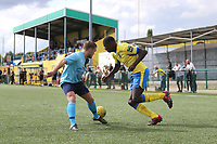 Joel Nouble of Haringey during Haringey Borough vs Stanway Rovers, Emirates FA Cup Football at Coles Park Stadium on 25th August 2018