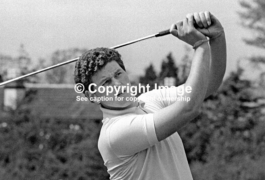 Iain Clark, golf professional, Malone Golf Club, Belfast, N Ireland, May, 1968, 196805000136IC<br /> <br /> Copyright Image from Victor Patterson, 54 Dorchester Park, Belfast, UK, BT9 6RJ<br /> <br /> t: +44 28 9066 1296<br /> m: +44 7802 353836<br /> vm +44 20 8816 7153<br /> <br /> e1: victorpatterson@me.com<br /> e2: victorpatterson@gmail.com<br /> <br /> www.victorpatterson.com<br /> <br /> IMPORTANT: Please see my Terms and Conditions of Use at www.victorpatterson.com