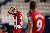 22nd June 2020; Estadio Municipal de Butarque, Madrid, Spain; La Liga Football, Club Deportivo Leganes versus Granada; Antonio Puertas (Granada CF)  frustrated as he misses a good goal scoring chance