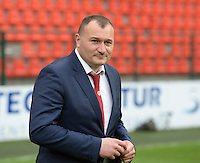 20150508 - LIEGE , BELGIUM : PSV's head coach Nebosja Vuckovic pictured during the soccer match between the women teams of Standard de Liege Femina and PSV Eindhoven , on the 26th and last matchday of the BeNeleague competition Friday 8 th May 2015 in Stade Maurice Dufrasne in Liege . PHOTO DAVID CATRY