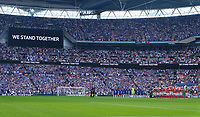 Players and Fans observe a minutes silence in respect of the victims of the Manchester Terror attacks during the FA Cup Final match between Arsenal v Chelsea, Wembley stadium, London on 27th May 2017