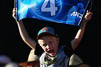 Cricket fan. New Zealand Blackcaps v England. One Day International Cricket. Seddon Park, Hamilton, New Zealand on Sunday 25 February 2018.<br /> <br /> Copyright photo: &copy; Bruce Lim / www.photosport.nz