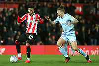 Said Benrahma of Brentford in action as Kalvin Phillips of Leeds United looks on during Brentford vs Leeds United, Sky Bet EFL Championship Football at Griffin Park on 11th February 2020