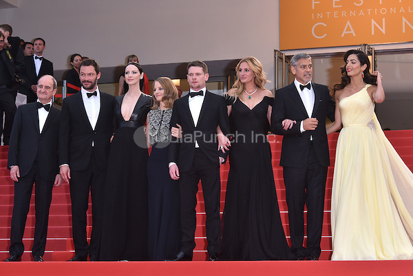 Jodie Foster, Julia Roberts, George Clooney, Amal Clooney and cast at Money Monster screening during the 69th International Cannes Film Festival, France May 12, 2016.<br /> CAP/PL<br /> &copy;Phil Loftus/Capital Pictures /MediaPunch ***NORTH AND SOUTH AMERICA ONLY***
