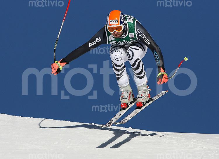 Ski Alpin;  Saison 2006/2007   08.01.2007 78. Weltcup Abfahrt Herren Johannes Stehle  (GER) am Hundschopfsprung