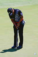 Yusaku Miyazato (JAP) sinks his putt on 12 during Friday's round 2 of the 117th U.S. Open, at Erin Hills, Erin, Wisconsin. 6/16/2017.<br /> Picture: Golffile | Ken Murray<br /> <br /> <br /> All photo usage must carry mandatory copyright credit (&copy; Golffile | Ken Murray)