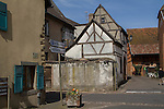 Eguisheim in Alsace region, eastern France,